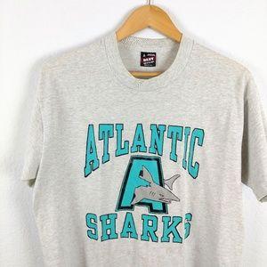 Vtg Best Of The Loom Atlantic Sharks USA Tshirt